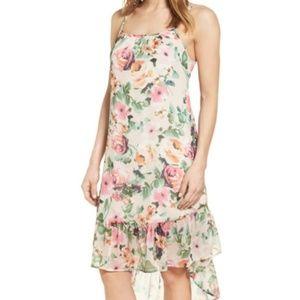 Charles Henry women L floral chiffon dress Hi-Low